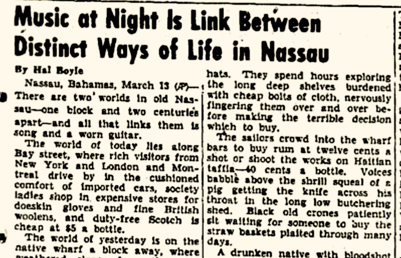 Nassau, Bahamas, March 13, 1947