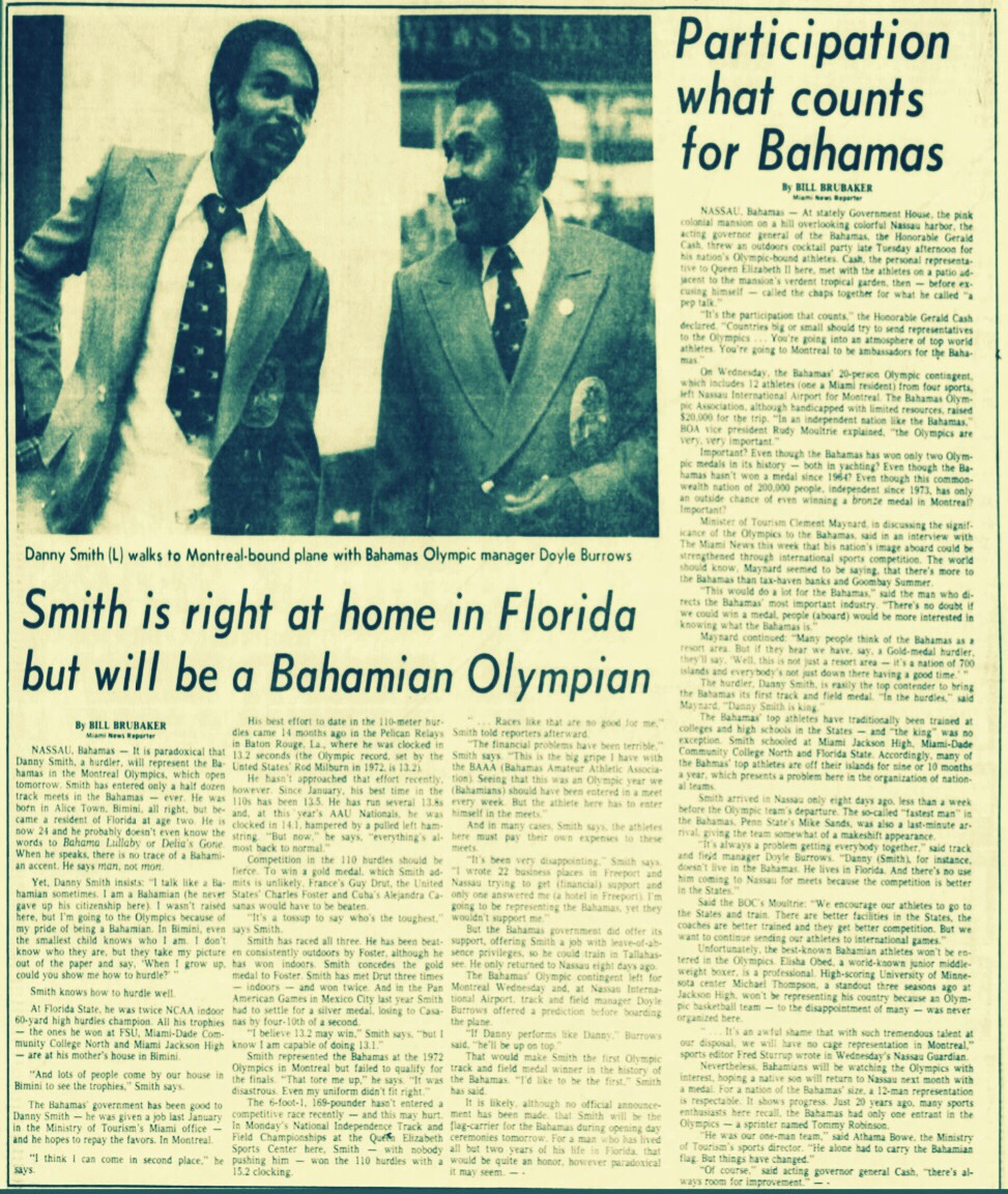 Florida resident competes for Bahamas in the Olympics 1976