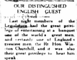 Winston Churchill visits Nassau 1932