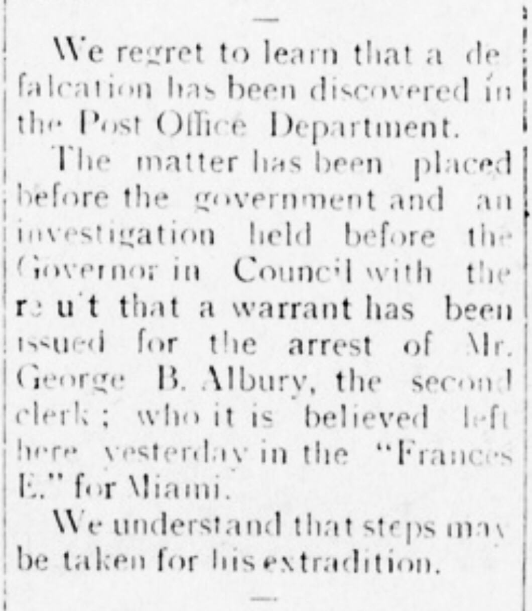 Post Office theft 1914