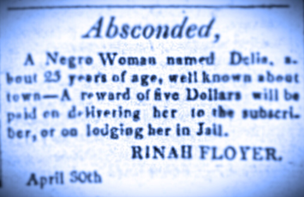 Absconded slave April 1817