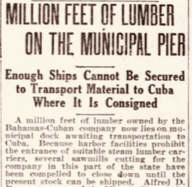 When lumber was king in the Bahamas (part 3)