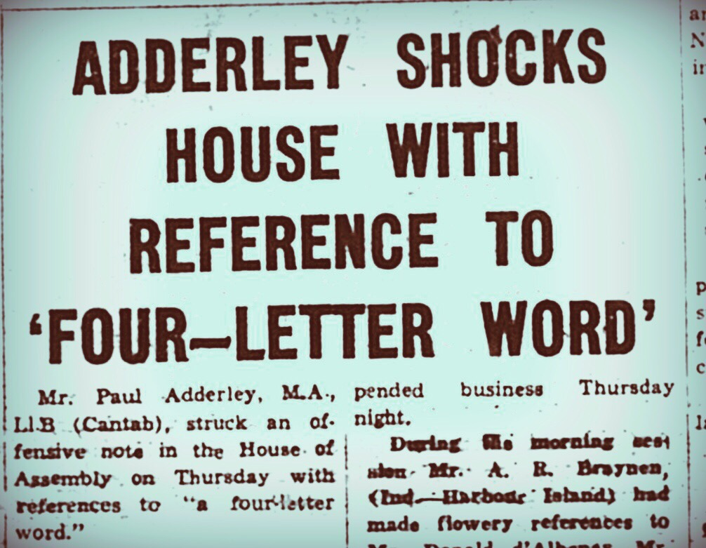 Paul Adderley Shocks House With Reference to Four-Letter Word 1963