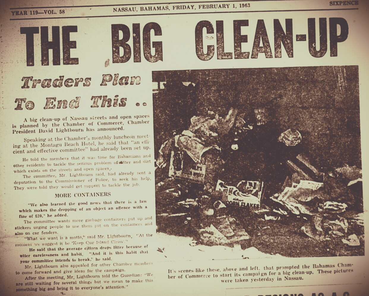 The Big Clean-Up of Nassau – 1963