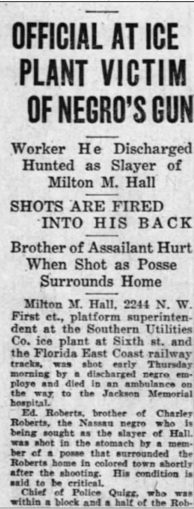The Bahamian on the run from the Klu Klux Klan, 1924 (part 2/5)