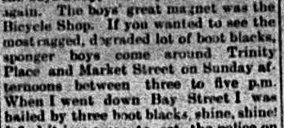 Boot Blacks, Sponger Boys using foul language – time for a Reformatory School 1909