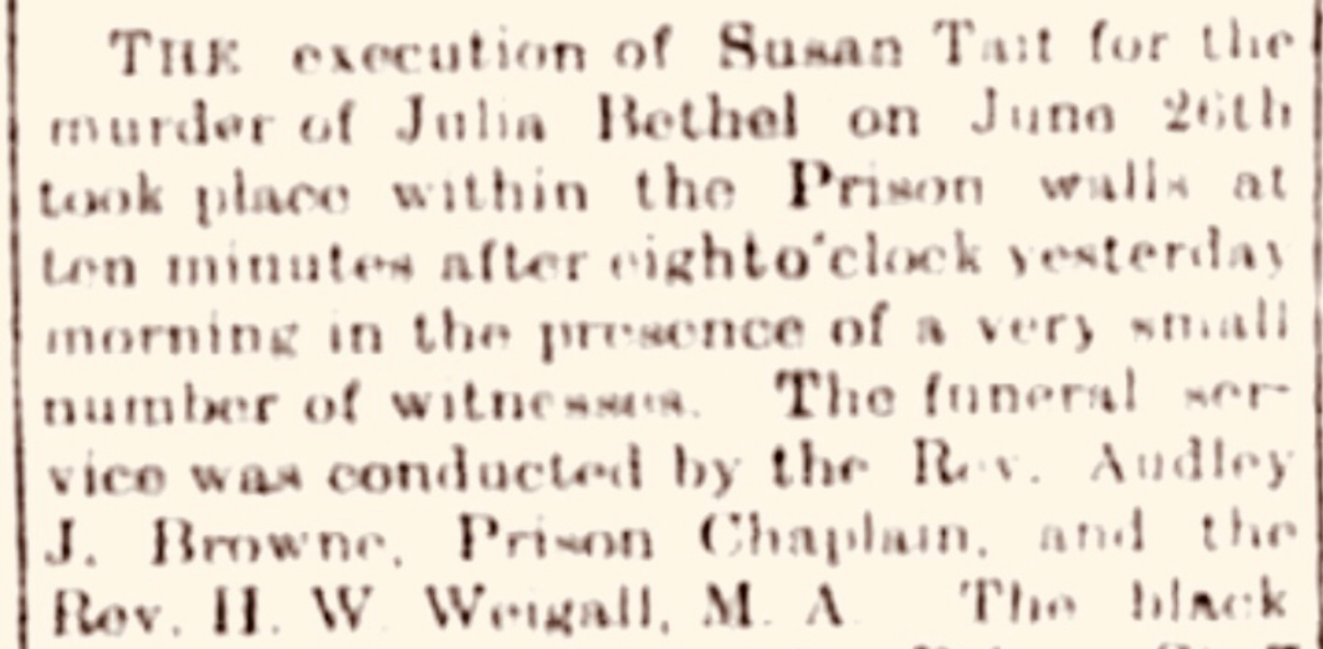 The Execution of Murderess Susan Tait (part 2/2)