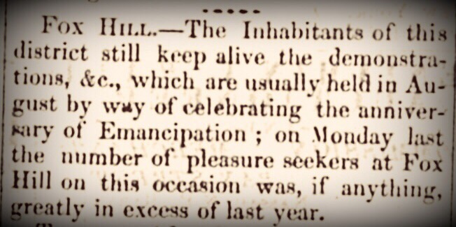 Former slave, Grace Lord, run down by carriage on her way from Emancipation Day jubilee  in Fox Hill 1866
