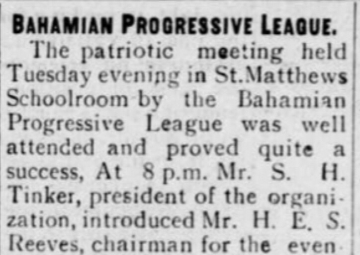 What was the Bahamian Progressive League the first negro led political party?  1915