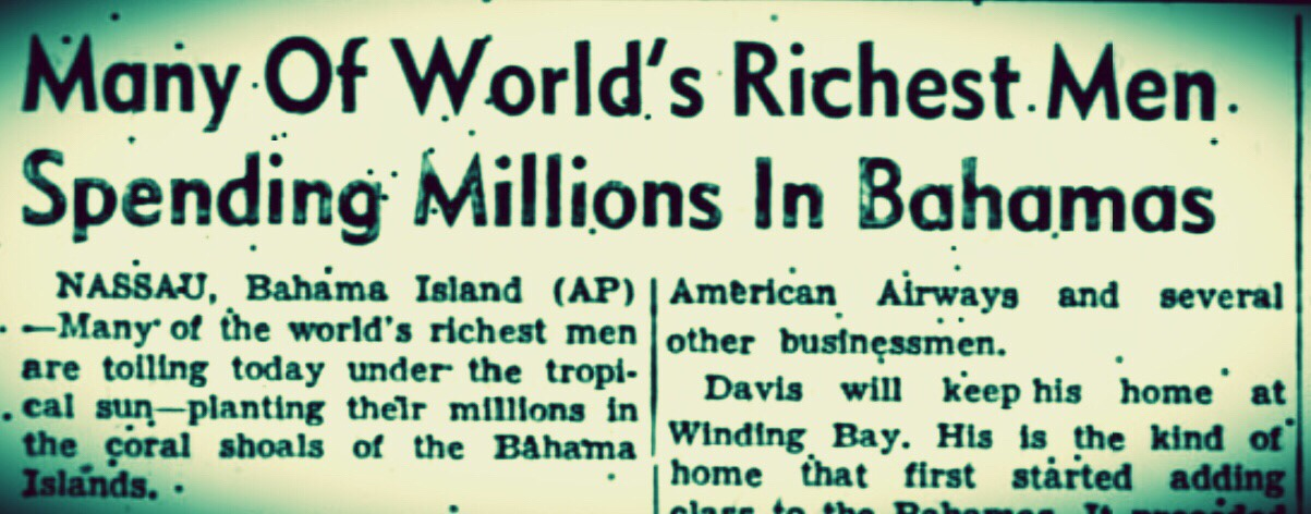 When Goliaths bestrode the Bahamas 1959