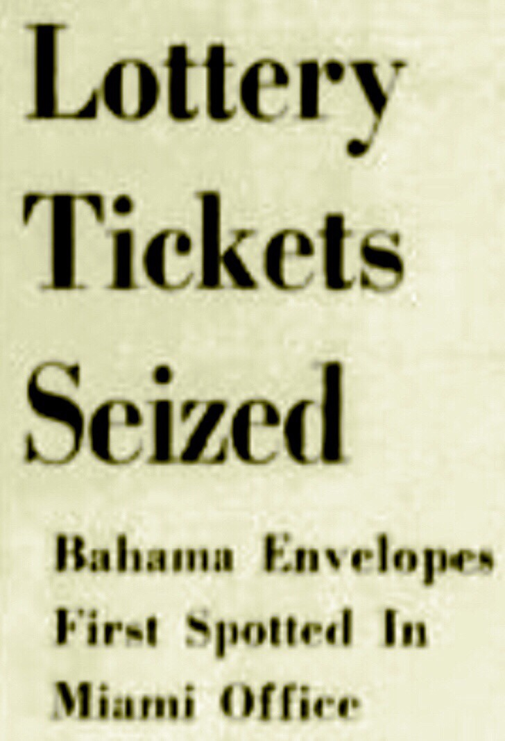The Secret Bahamian Lottery 1959