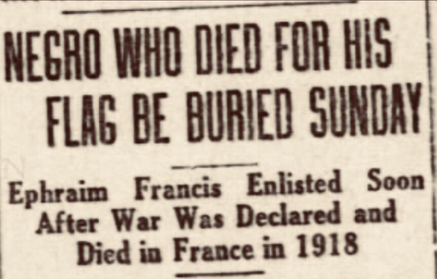 Ephraim Francis born in Bimini died on a torpedoed ship in World War One.