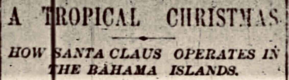 Christmas in Nassau 1884