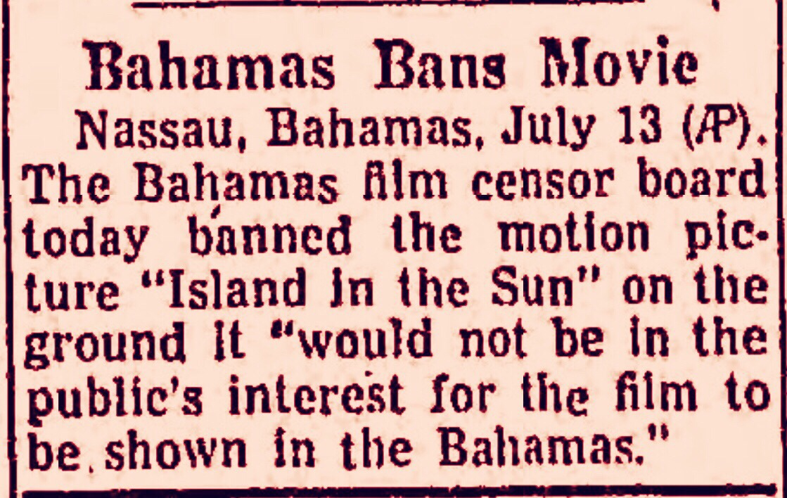 Movie about racial inequality on British island banned 1957