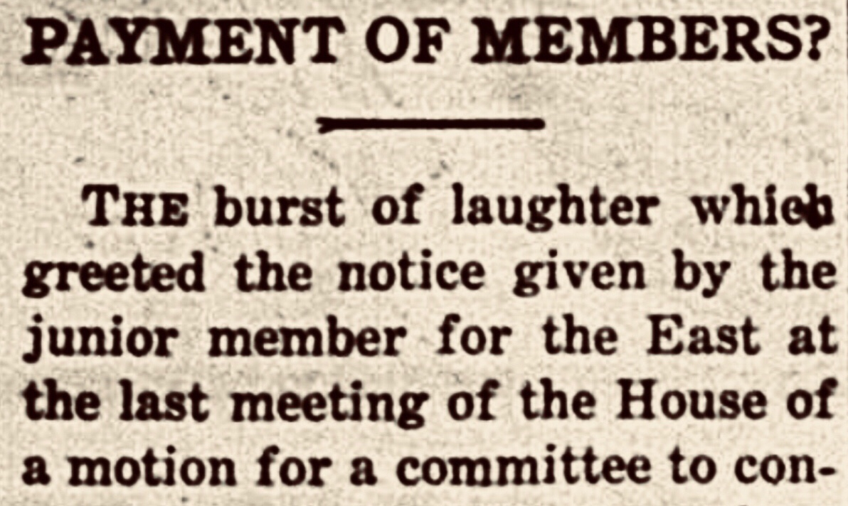 Salary proposal for Assembly met with howls of laughter 1942
