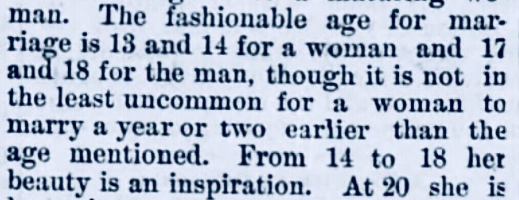 Married by 13. A toothless hag by 35. Hope Town, Abaco women 1890