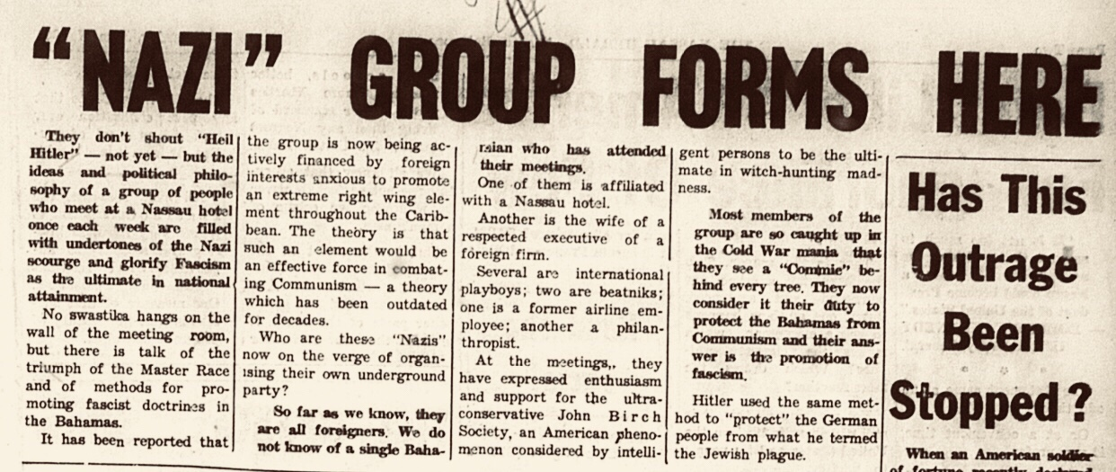 """Nazi"" group forms in Nassau 1961"