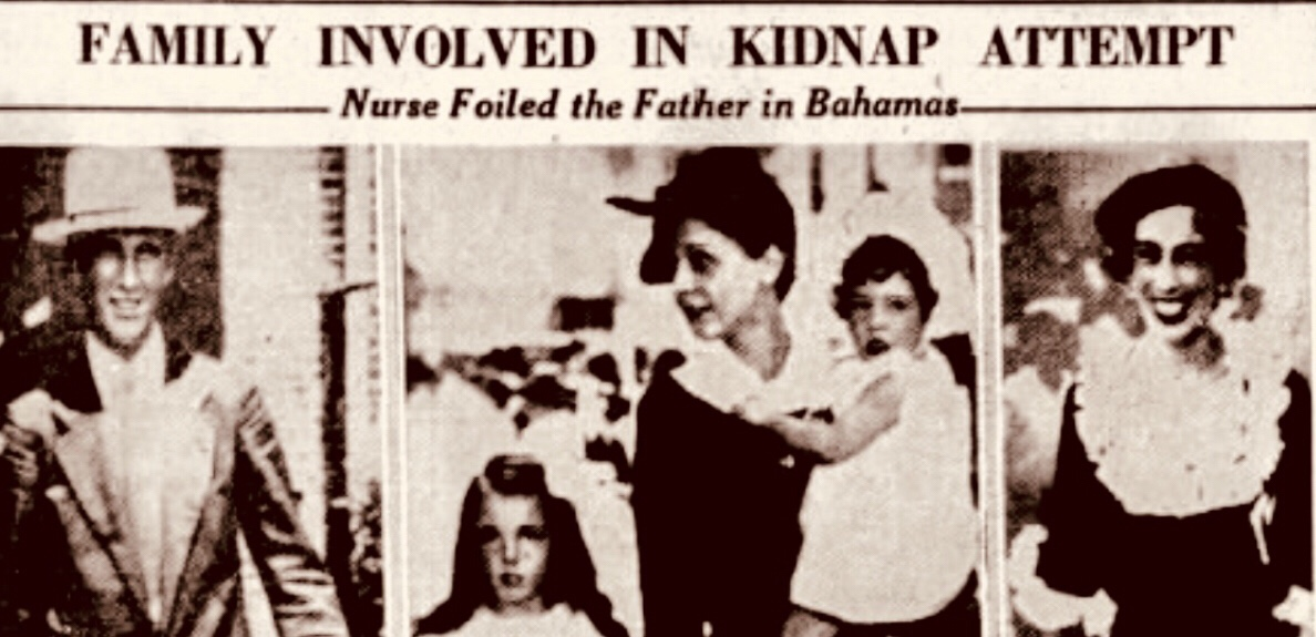 First charges of kidnapping for modern Bahamas 1938