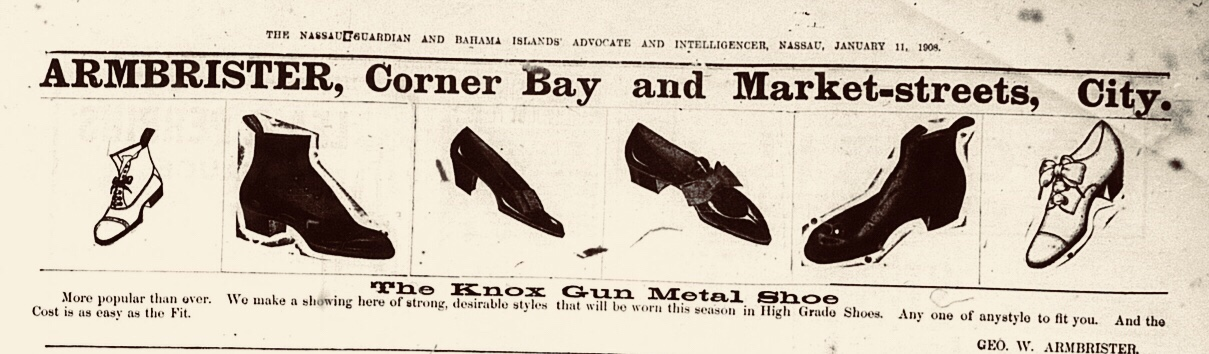 Armbrister Shoes, Bay Street, Nassau 1908
