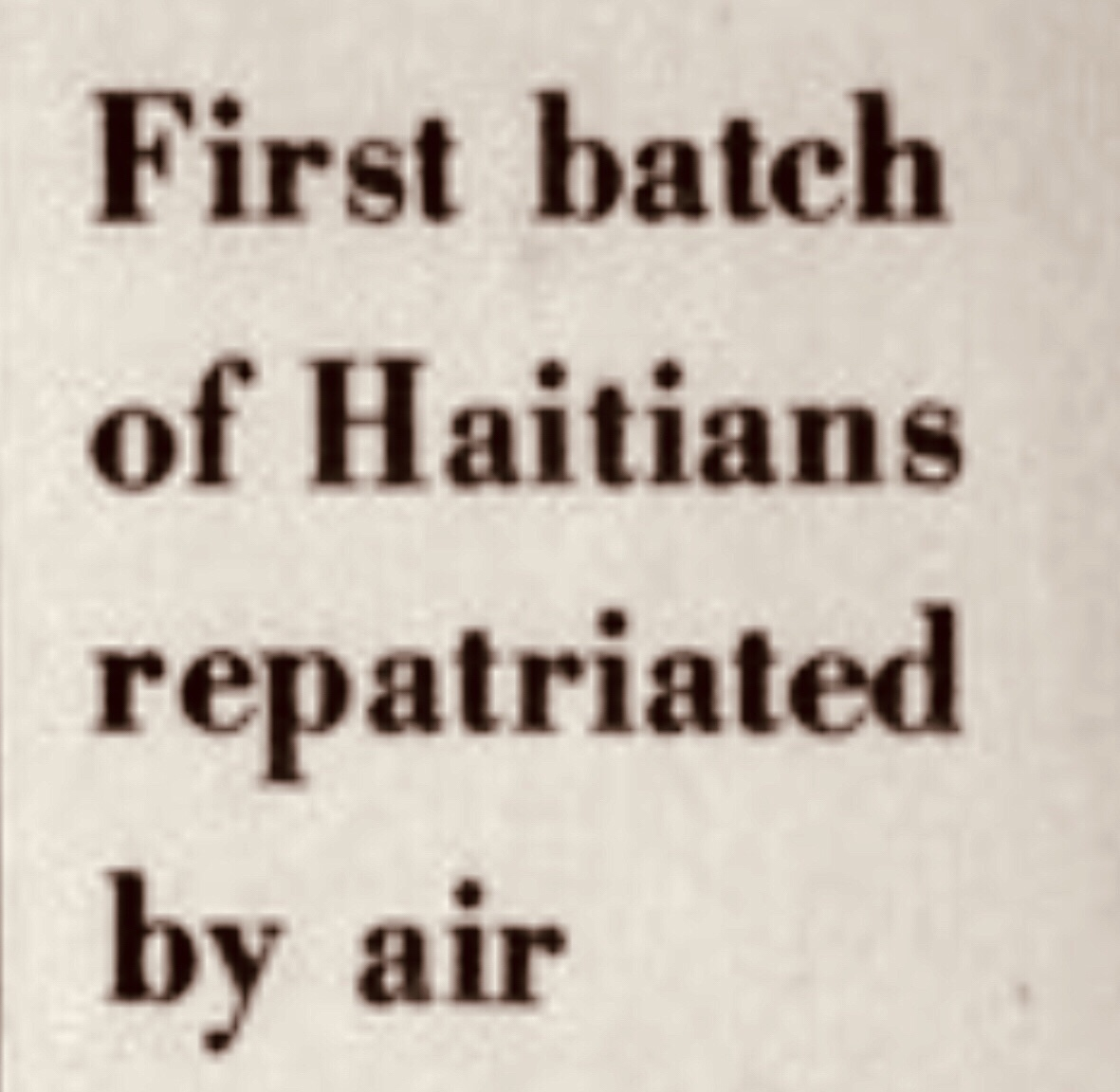 13,500 Illegal Haitian Immigrants Register to Go Back Home 1974