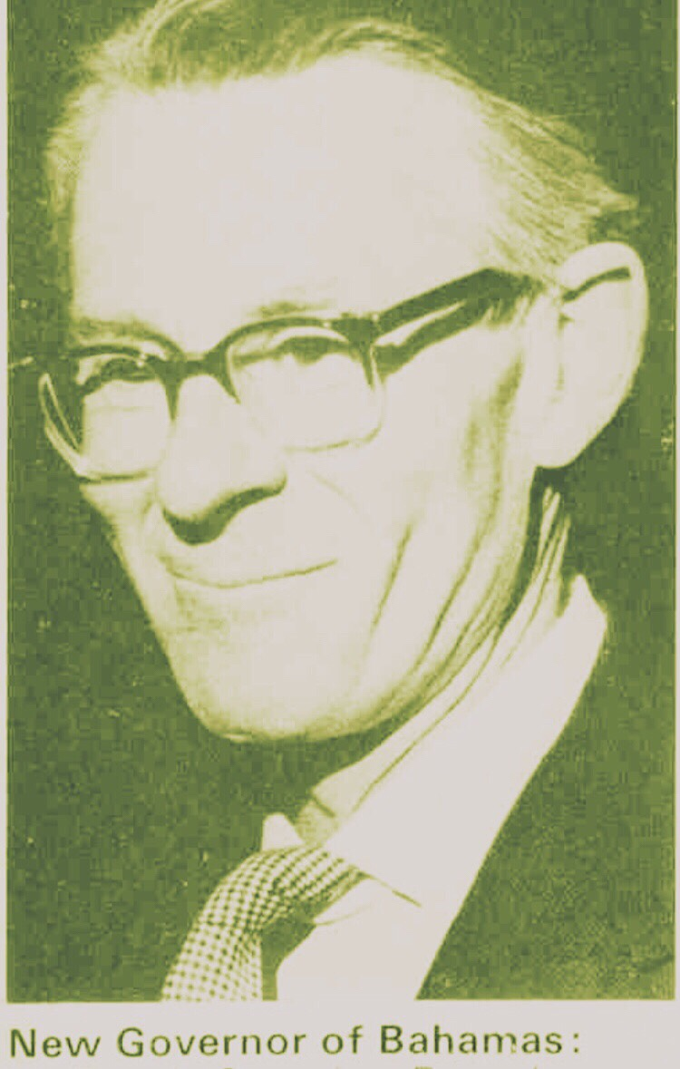 Penultimate British Governor and Commander in Chief the Bahamas, 8th Baron Thurlow 1968