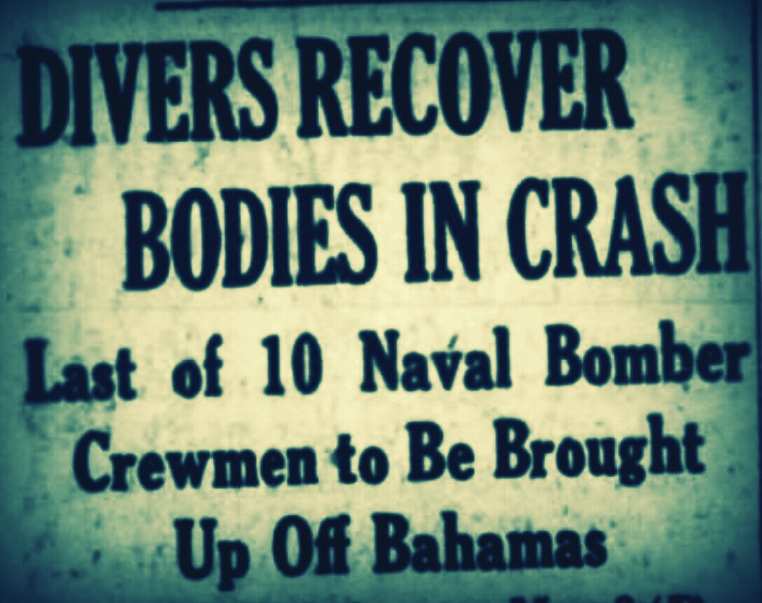 Ten Crash Victims Recovered, Clifton Pier, Nassau 1954