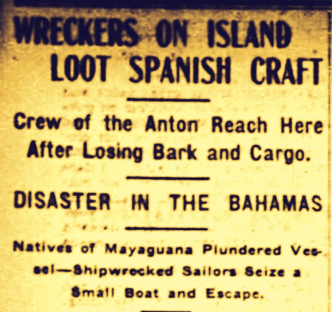 Spaniards Held Prisoners on Mayaguana 1905