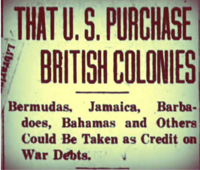 America to Britain 'Give us the Bahamas to Settle War Debt' 1938