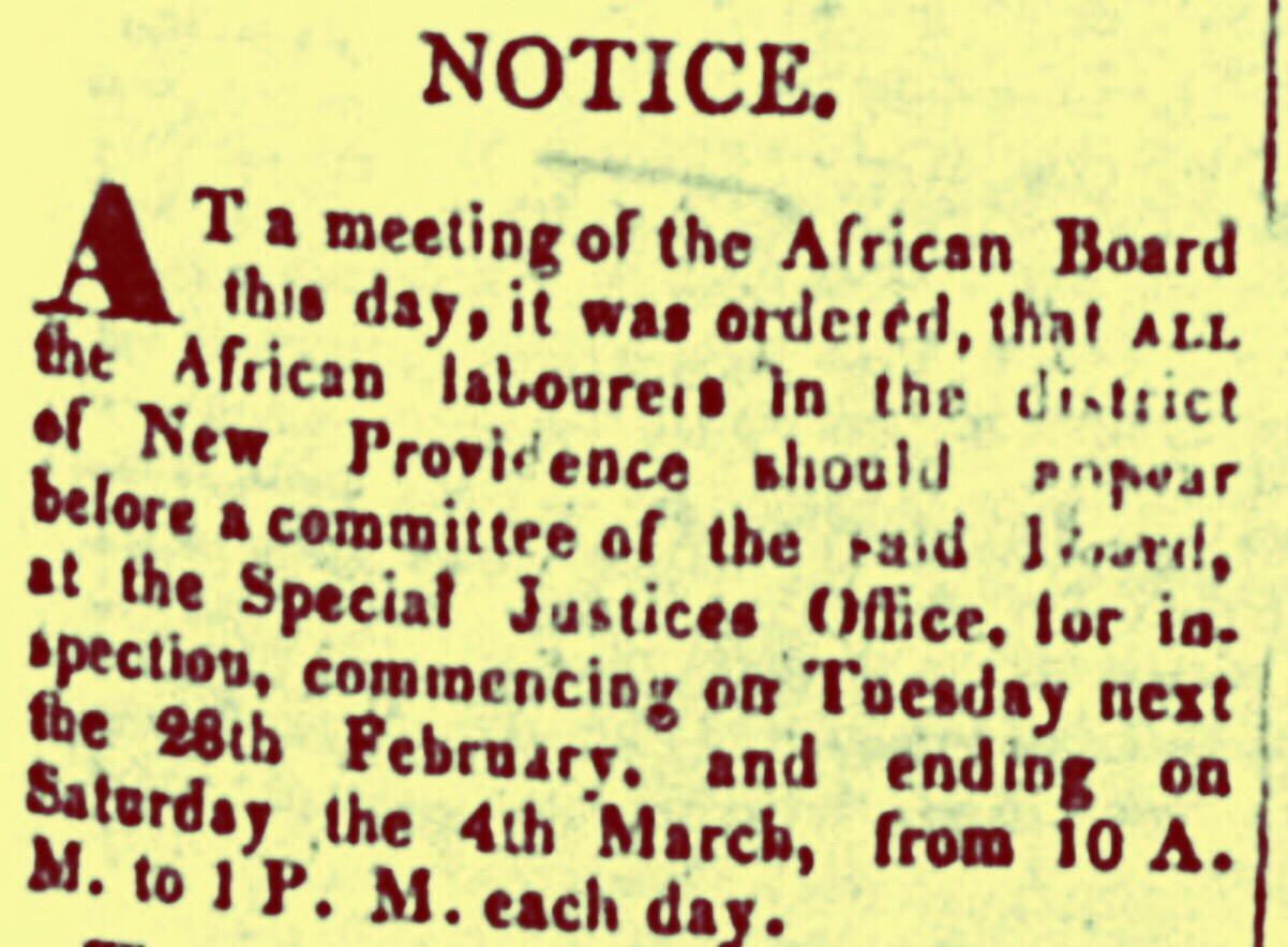 All African Labourers Report to African Board 1837