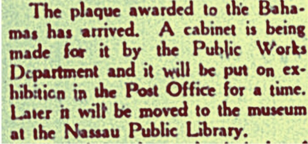 """""""In the hour of peril the people of the Bahamas earned the gratitude of the British nations…"""" 1942"""