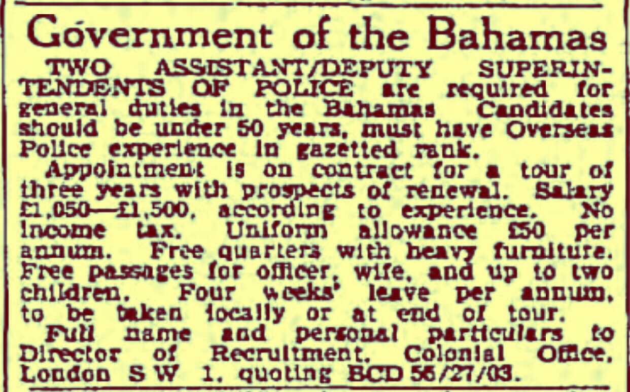 When the Top Cops in the Bahamas Were British 1960