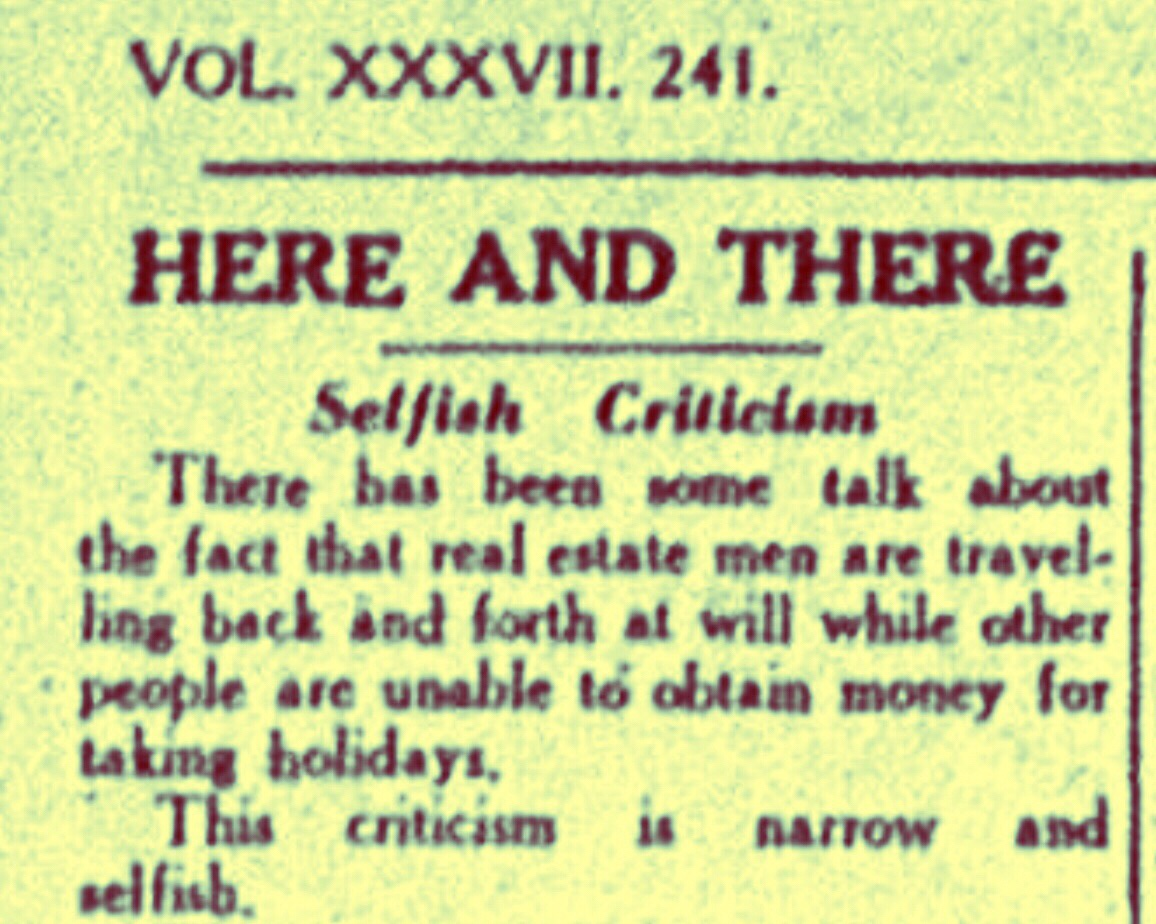Real Estate Men Were Kings and Everyone Else Selfish and Narrow 1940