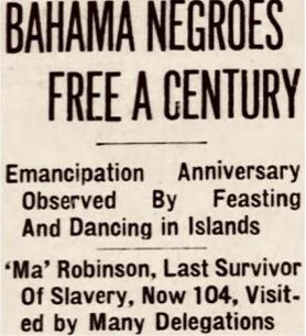 Blacks Celebrate Freedom Whites Celebrate Enlightenment – Emancipation Day 1937