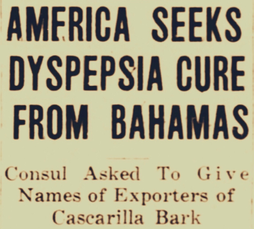 Cascarilla of the Bahamas Was Once the Marijuana of the Early 1900s