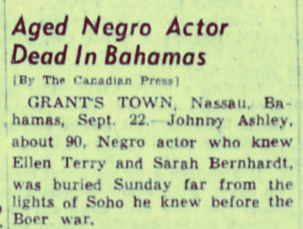 Who Was Johnny Ashley? 1941