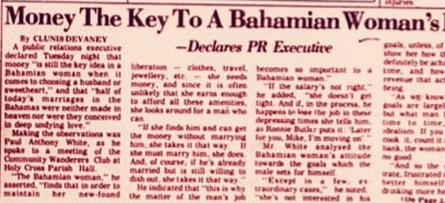 'The Bahamian Woman Has Always Been A Highly Sexed Individual… And I Say Thank God For That' 1975