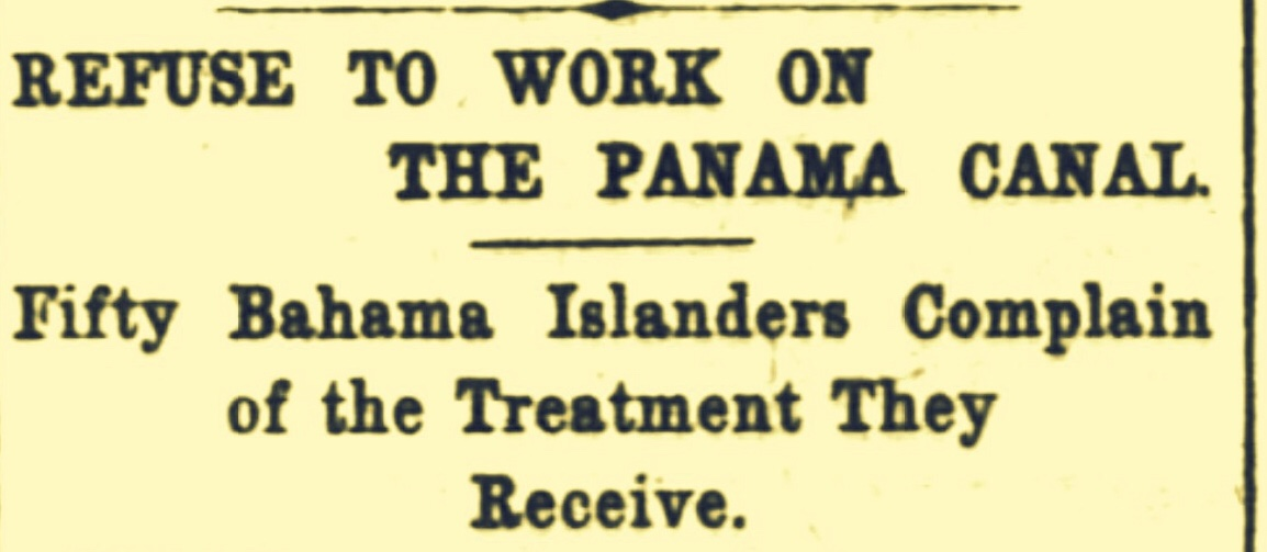 Bahama Negroes Contracted To Work on Panama Canal Sent To Monkey Hill Station 1905