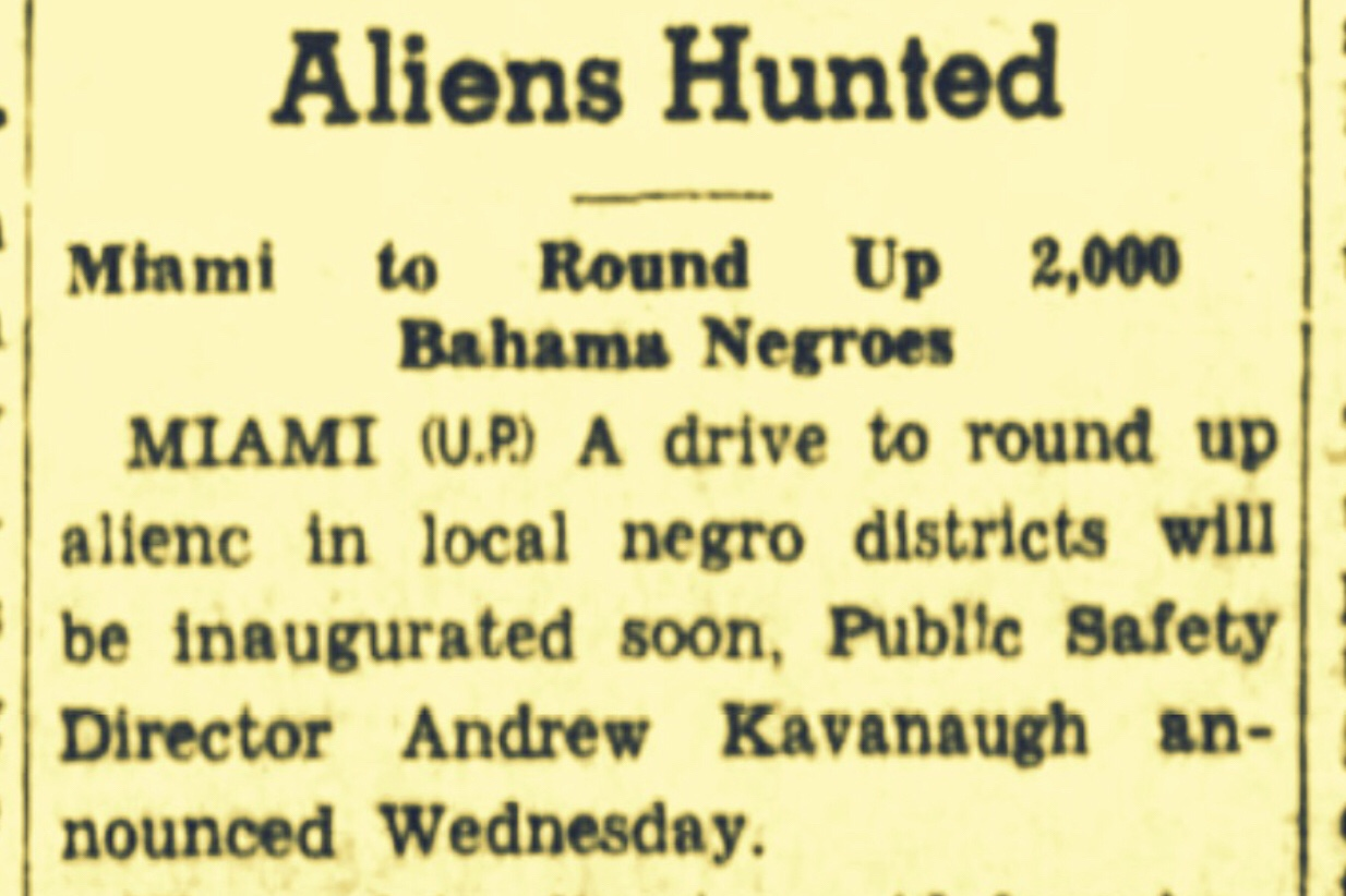 2,000 Illegal Bahamian Immigrants Hunted By U.S. Federal Agents 1935