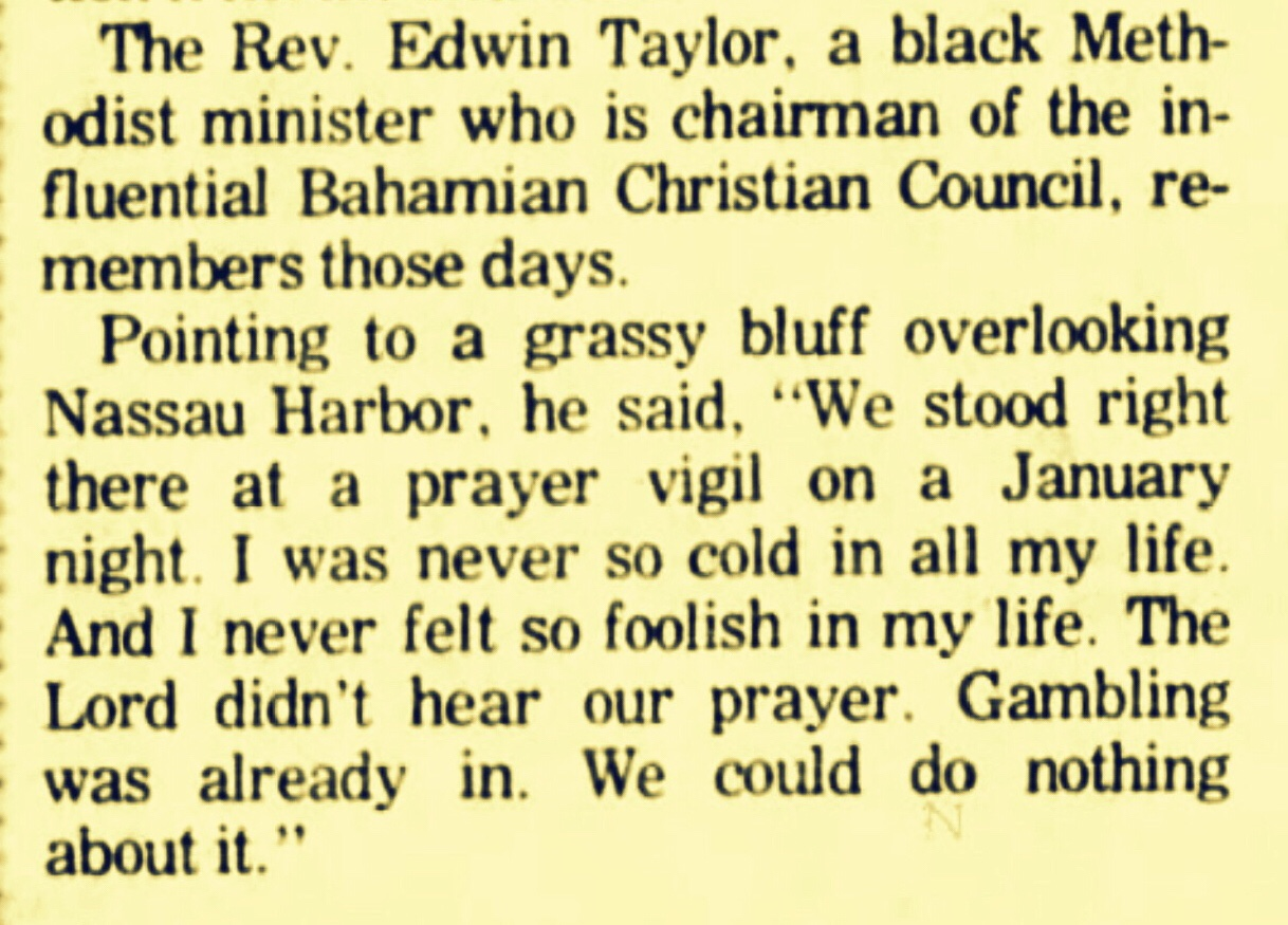 Praying So Hard To Stop Casino Gambling, We Never Saw The Storm Of Drugs Coming 1977