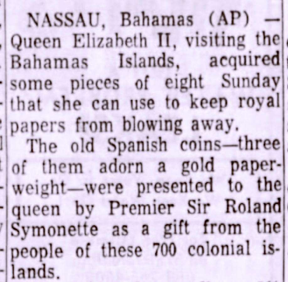 Whatever Happened To The Hoard Of Priceless Coins Turned Over To The Bahamas Government in 1965