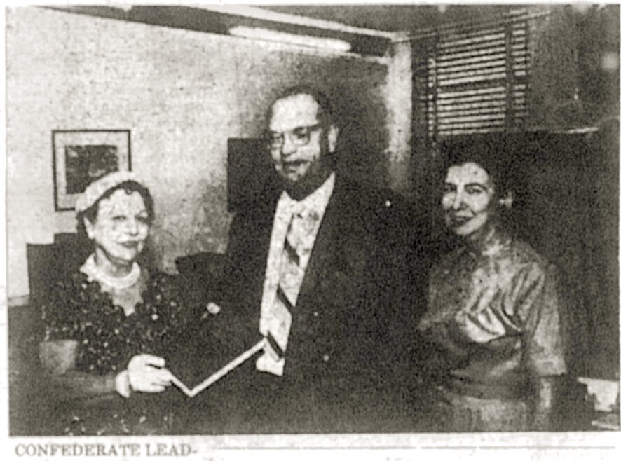United Daughters of the Confederacy Present Book To Stafford Sands For Nassau Public Library 1962