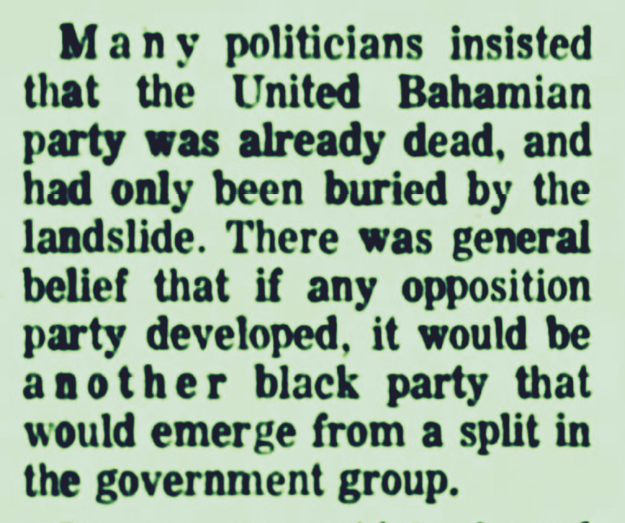 First UBP Convention After Political Loss, First PLP Convention After Political Win 1968