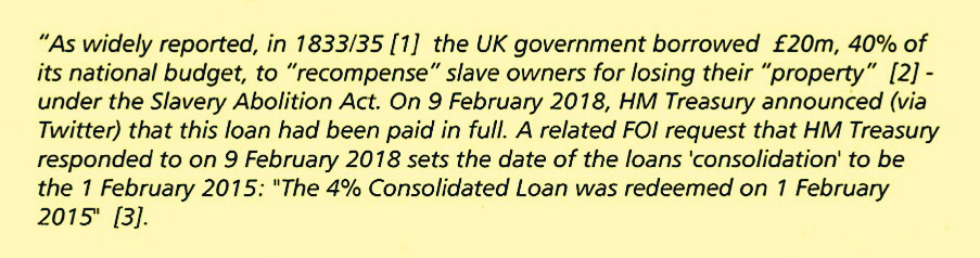 £15m Loan In 1835 To Compensate British Slaveowners Finally Paid In 2015