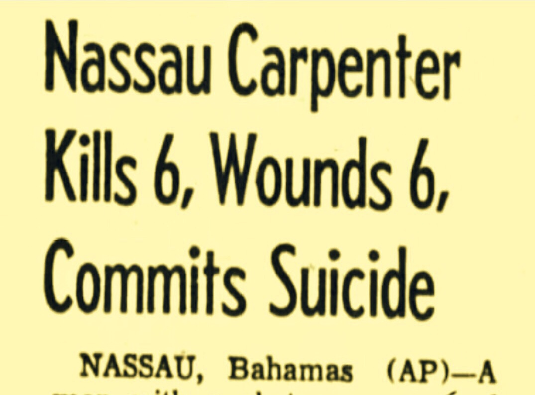Famous But Forgotten Suicides in Bahamas: Cuban Awaiting Extradition to Only Son of Universal Studios President to Nassau Mass Murderer 1888 – 1964