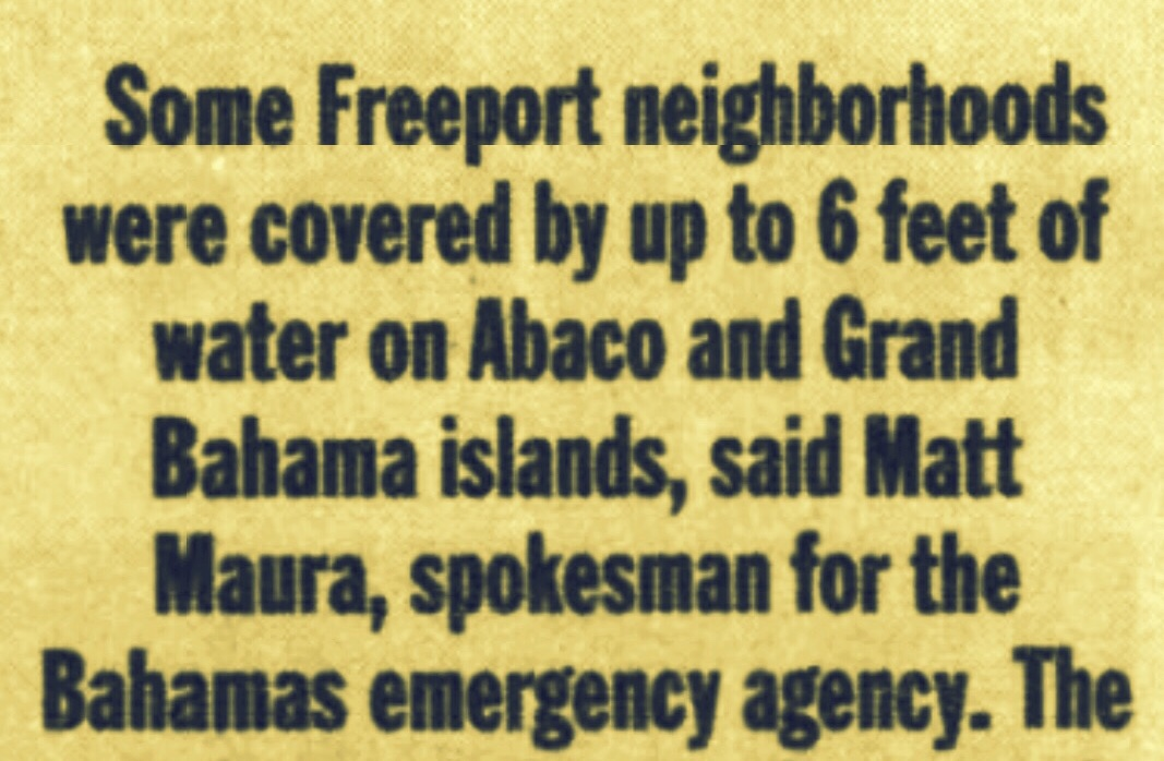 Parts of Freeport and Abaco Under Six Feet of Water After Double Hurricane Francis and Jeanne Both Hit In  September 2004