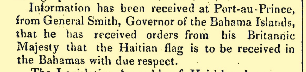 Bahamas Receives Haitian Flag in 1830 But By 1843 France Sends War Ships When Haiti Tries To Pay Debt They Agreed To With Haitian Money