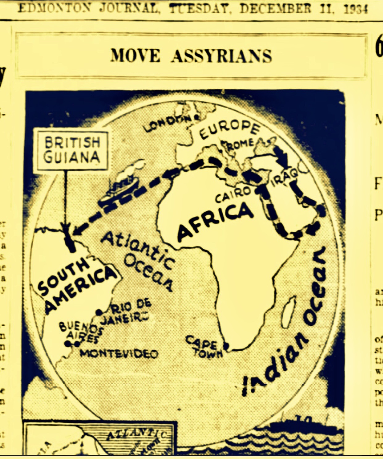 Britain's Plan To Settle 50,000 Assyrian Christians From Iraq To Their Former Slave Colony British Guiana 1934