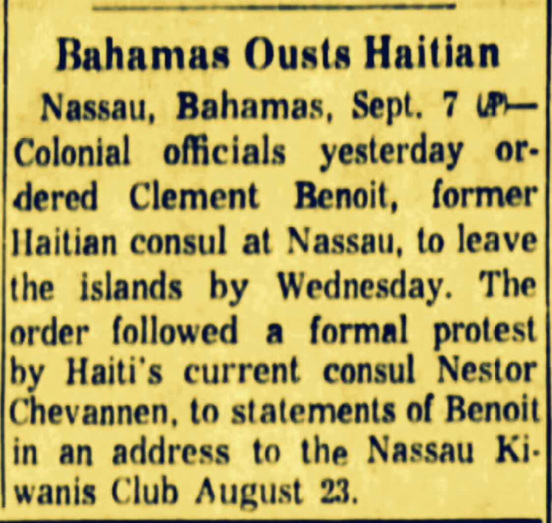 Haitian Revolutionary Party Manages To Assemble 3,000 Strong Force Under The Nose of the Bahamas Government 1963