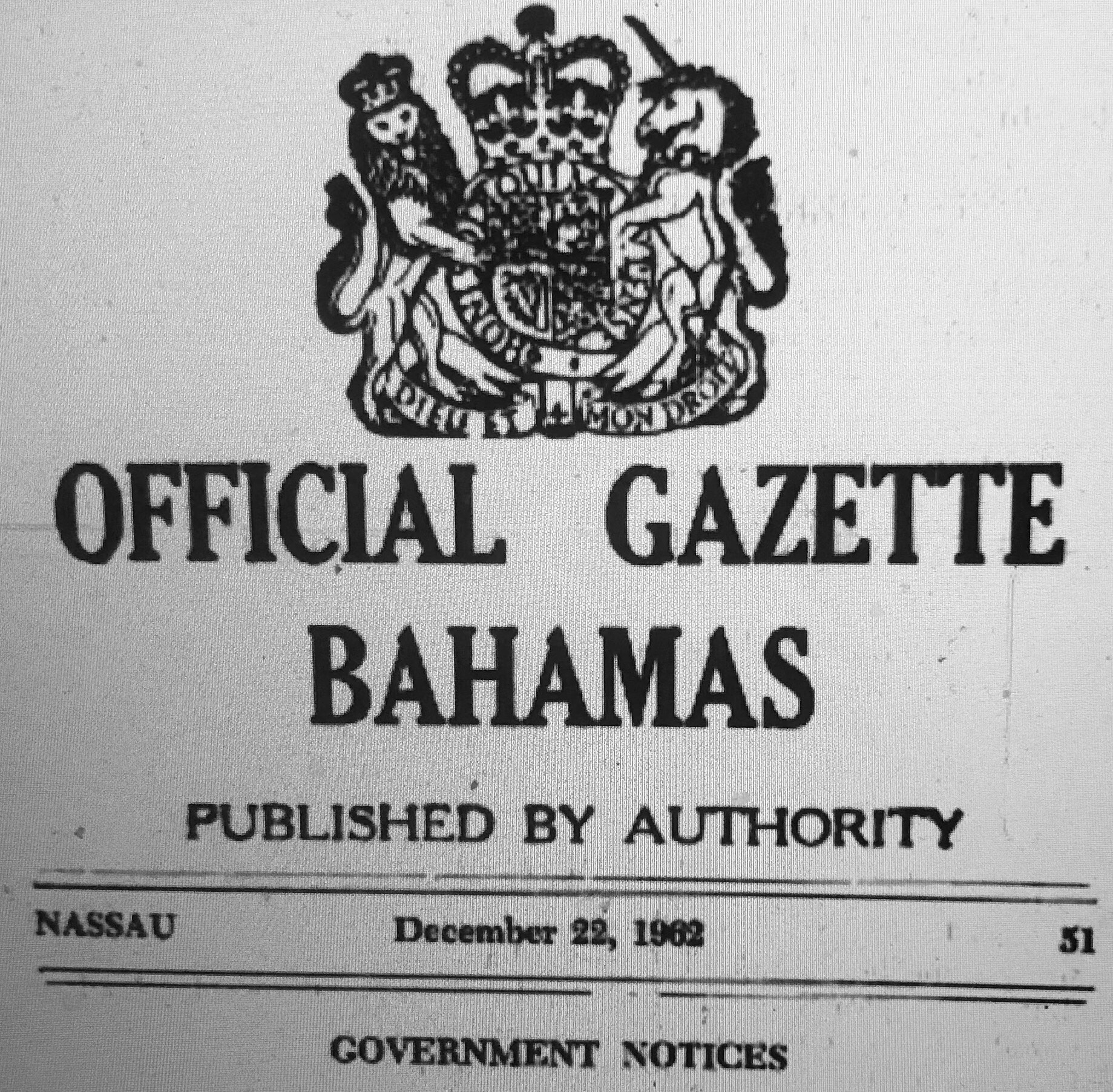 Could Bahamas History of Deposits In British Joint Colonial Fund Support Idea for Modern Day Sovereign Wealth Fund 1962