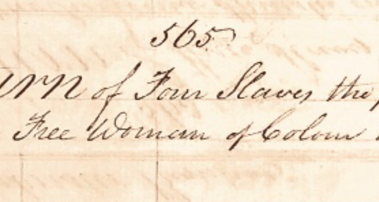 Free Black Women and Free Women of Colour Who Owned Slaves Bahamas Slave Register 1822